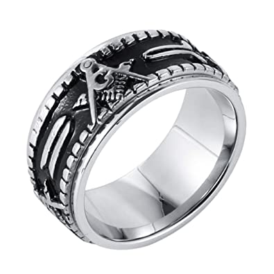 Workmanship Stainless Steel Band With Black Inlay Size 11 Exquisite In