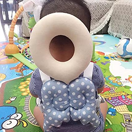 Refago Baby Drop-proof Pad Wing Shaped Toddler Head Protection Headrest Pillow Baby Safety Soft Pillow With Straps