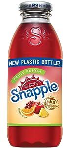 Snapple - 16 oz (9 Plastic Bottles) (Fruit Punch, 9 Bottles)