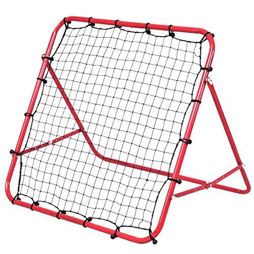 GYMAX Football Training Net Pro Rebounder Net Soccer Kickback Target Goal...
