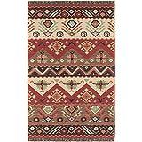 Surya Jewel Tone JT-8 Flatweave Hand Woven 100% Wool Carnelian 2' x 3' Southwest Accent Rug