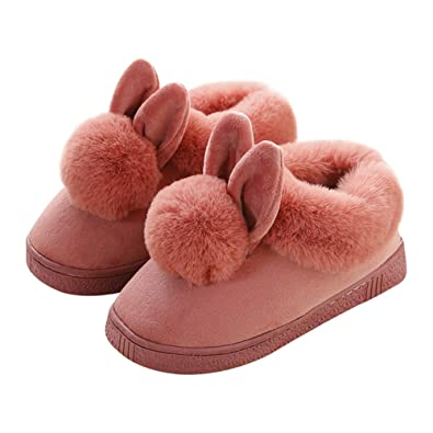fc8a0d8a13713 Image Unavailable. Image not available for. Color  Kanggest Warm Indoor  Slippers Women Fleece Plush Bedroom House Shoes Non Slip Winter Boots  Comfort Cozy