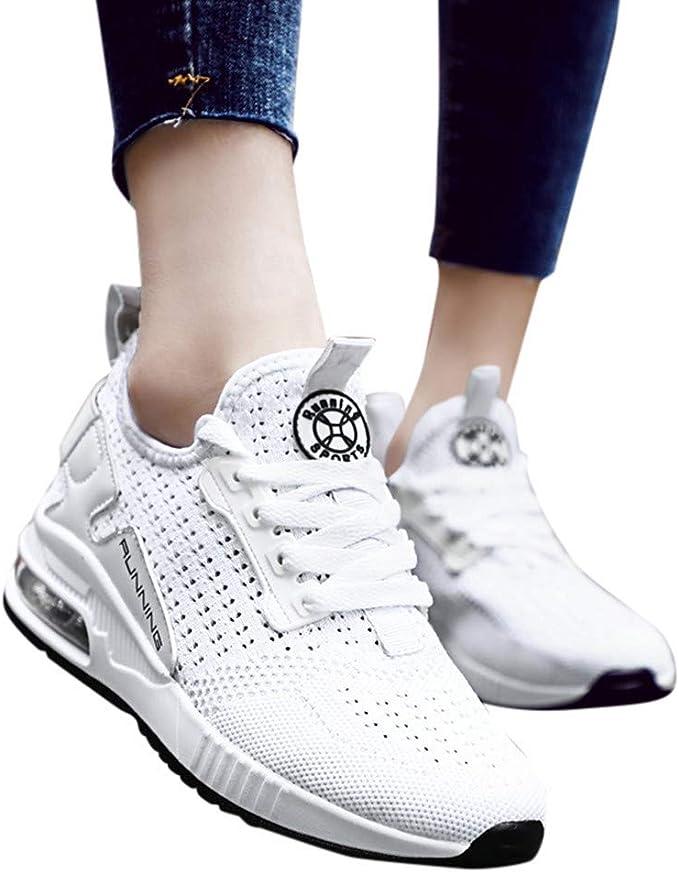 Frauen Sneaker Training Mesh Rutschfest Sneaker Freizeit Fitness Schnüren