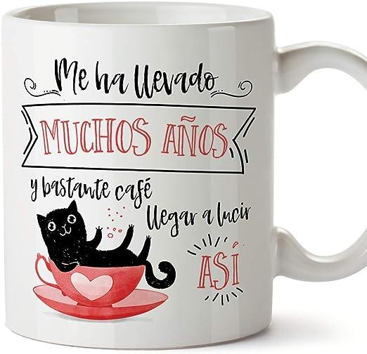 MUGFFINS Taza Gato (Cumpleaños Gatito) - Regalos Originales y Divertidos para Amantes de las Mascotas: Amazon.es: Hogar
