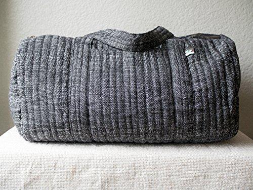 Eco Weekender - Black Canvas Duffle Bag // Weekend Bag // Fair Trade // Conscious Company