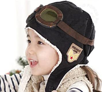 6a2aa74259a Image Unavailable. Image not available for. Color  Cute Cool Warm Baby Kid  Toddler Child Infant Boy Girl Winter Earflap Pilot Cap Hat Beanie