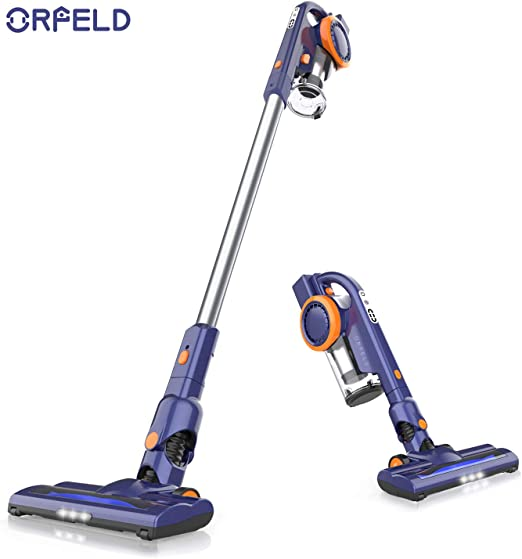 ORFELD Cordless Vacuum, 18000pa Stick Vacuum 4 in 1,Up to 50 Minutes Autonomy, with Dual Digital Motor for Deep Clean Whole House best cordless vacuum