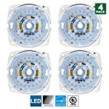 Sunlite LED Retrofit Light Engine, 4-inch, 4000K Cool White, 17 Watt, Dimmable, Flush Ceiling Fixture LED Upgrade Panel, Energy Star Compliant, Commercial Grade, 90 CRI, 4-Pack