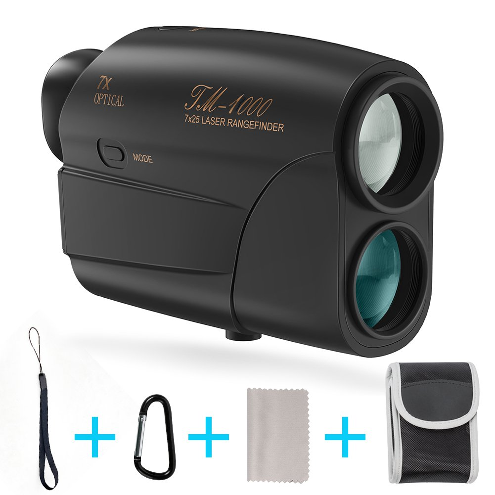 Laser Rangefinder, Fnova Hunting Range Finder Ranging 5-1000 Yards Digital Rangefinder 7X Magnification Lens Golf Rangefinder for Hunting, Racing, Archery, Survey and Golf 1000 Rangefinder by Fnova
