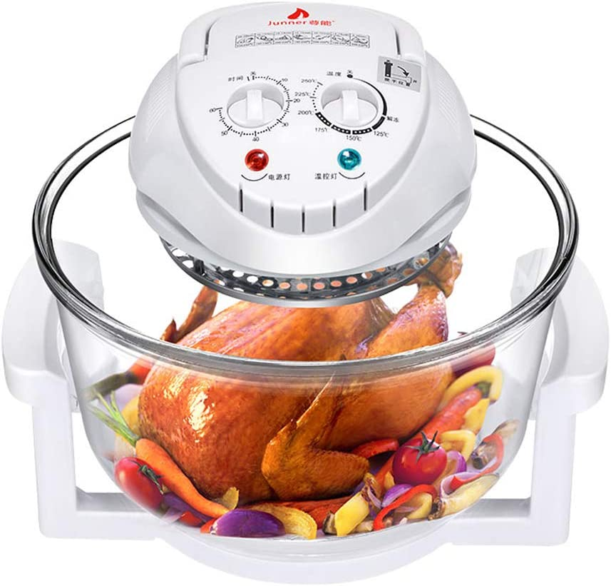 Air Fryer,12L/17L Turbo Air Fryer Convection Oven Roaster Electric Cooker Oil-less Multifunction Infrared, Includes Recipe Book (12L)