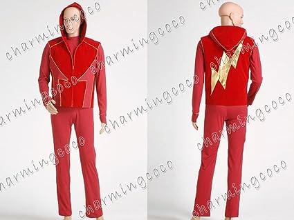 Smallville Cosplay Costume Allen Impulse the Flash Red Suit Uniform (Male S) & Amazon.com: Smallville Cosplay Costume Allen Impulse the Flash Red ...