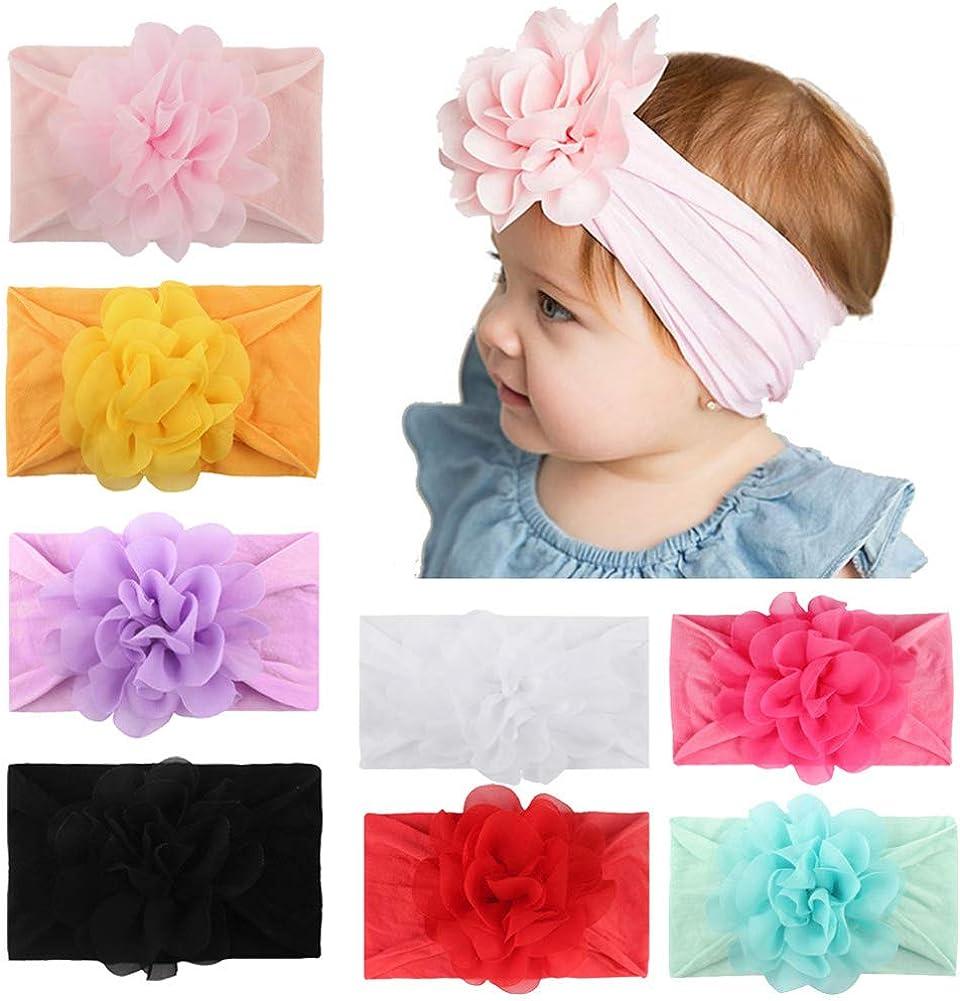 Cute Newborn Baby Headband Soft Girl Elastic Infant Turban Hairband Accessories