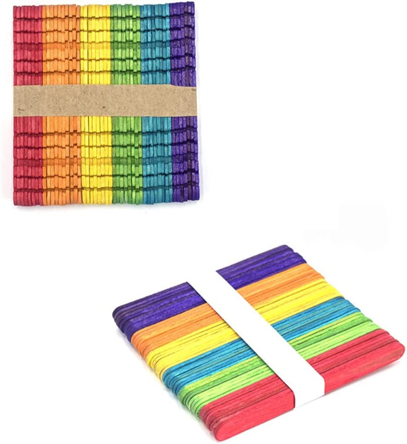 Trifycore 100 palitos de helado de madera de colores materiales de ...