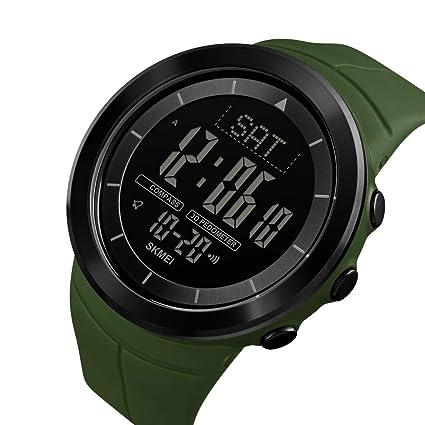 LIBINA Relojes Impermeables para Hombres, Deportes Led Digital Compás Resistente Deportes Resistente Banda Inteligente Ejercicios