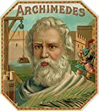 Archimedes Brand Cigar Box Label (12x18 Art Print, Wall Decor Travel Poster)