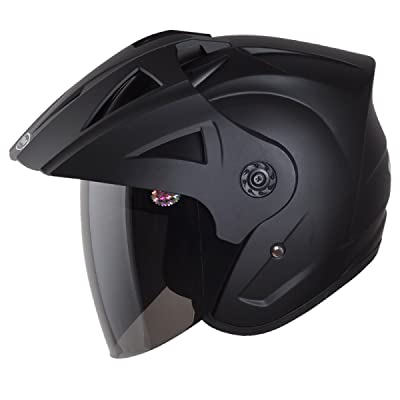 YIHANG @ Moto Casque Homme Et Femme Voiture électrique Demi-casque Quatre Saisons à Moitié Recouvert Chaud Casque