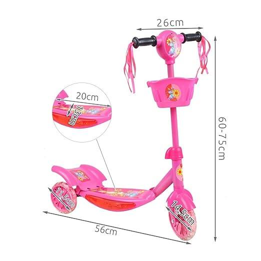 Patinete Musical ruedas LED Scooter rosa Rose Talla:13 ...