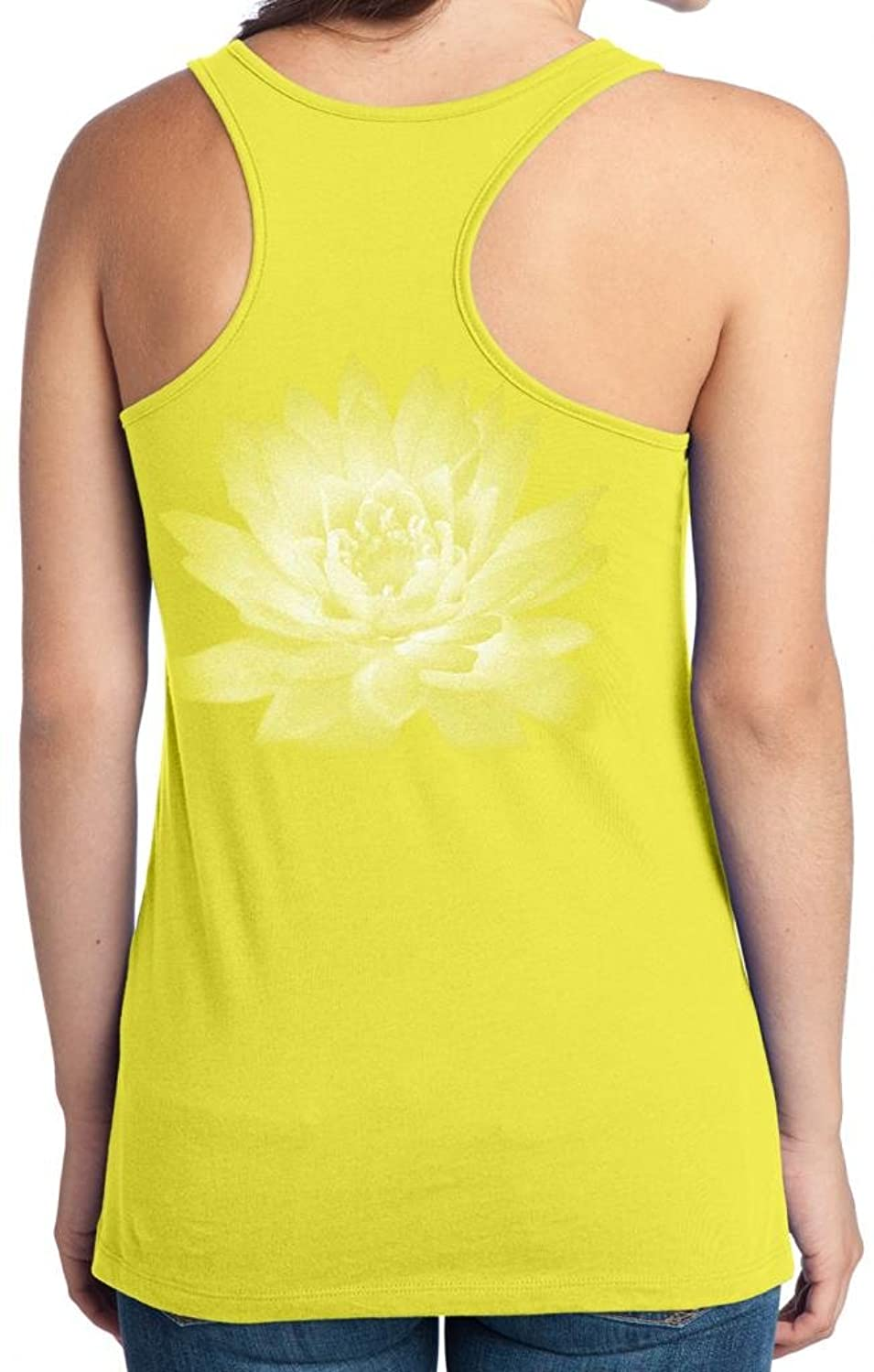 Yoga Clothing For You Juniors Lotus Flower Yellow Tank Top