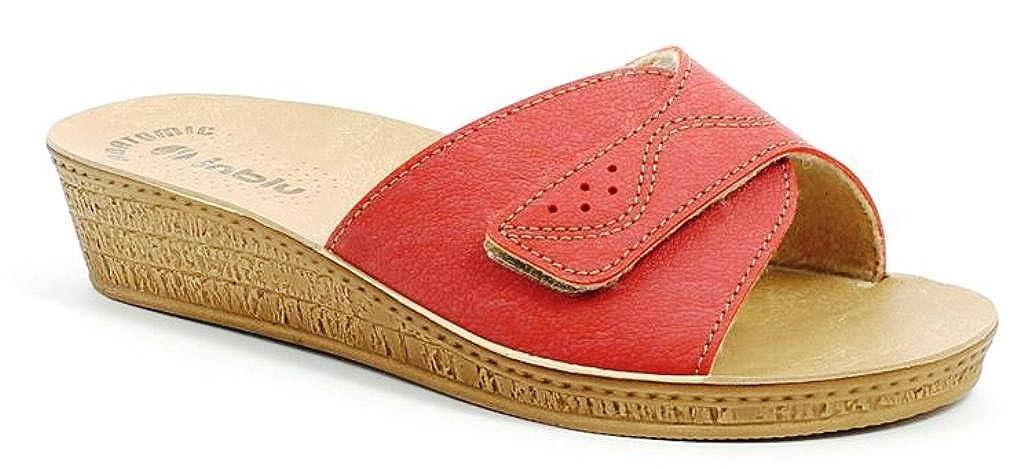 INBLU Ciabatte Pantofole Aperte Donna DI-57 MOD. DI-57 Donna Corallo Linea Benessere - d3627a