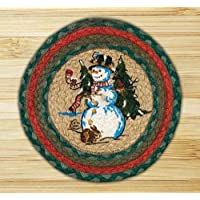 Earth Rugs 80-246 Printed Round Swatch, 10-Inch, Winter Wonderland