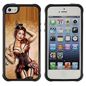 BullDog Case@ Sexy Pin Up Model Lingerie Stockings Rugged Hybrid Armor Slim Protection Case Cover Shell For iphone 5S CASE Cover ,iphone 5 5S case,iphone5S plus cover ,Cases for iphone 5 5S