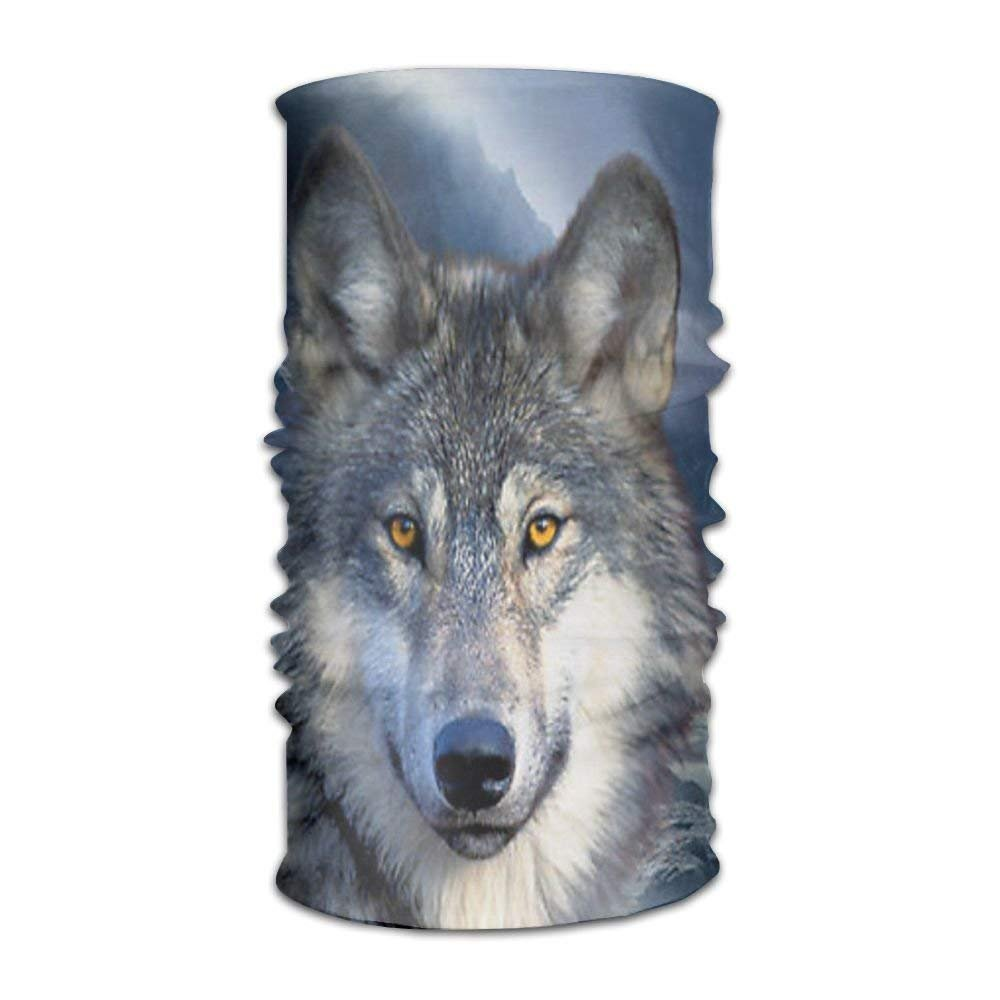 Qinckon Women Men Wolf Moon Howl Fashion Headscarf Outdoor Sport Headwear Bandanas Multifunction Magic Scarf,Neck Gaiter,Hand Wrap,Neck Balaclava for UV Resistence