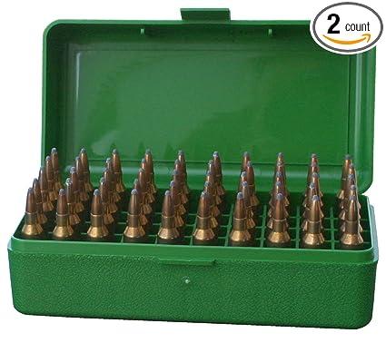 Amazon com : MTM Plastic Ammo Box, Green 50 Round 223/5 56