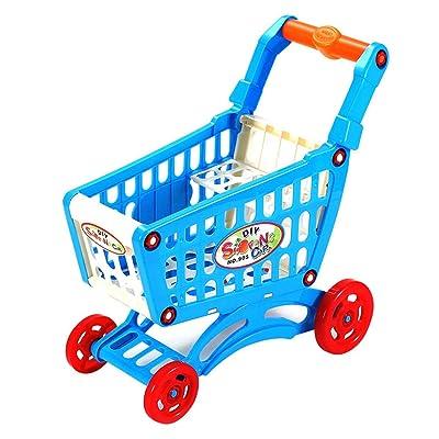 Simule el Carrito de Compras del supermercado Juego de imaginación Juguetes para niños Mini Carrito de plástico Juego Juguete de Regalo para niños 28x15x30cm WEIWEITOE: Juguetes y juegos