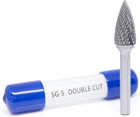SG-3 Pointed Tree Shape Premium Double Cut Tungsten Carbide Burr