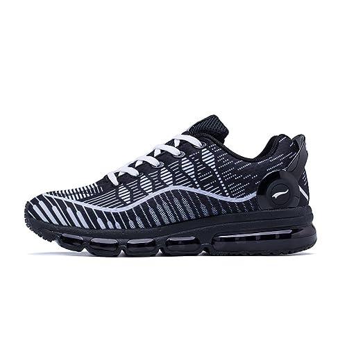 ONEMIX Air Zapatillas De Running Deportes Para Hombre Gimnasio Correr 2017 Negro Blanco: Amazon.es: Zapatos y complementos