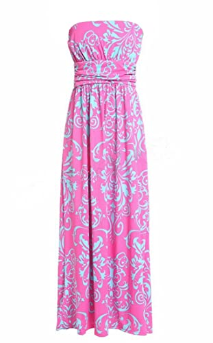 Strapless Maxi Dress Vintage F...