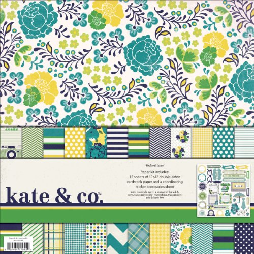 My Minds Eye Kate And Co  Paper And Accessories Kit  12 By 12 Inch  Oxford Lane