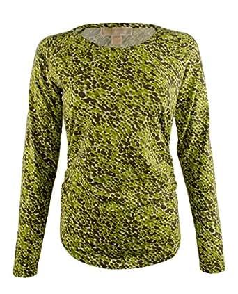 Michael Michael Kors Women's Long Sleeve Shirred Printed