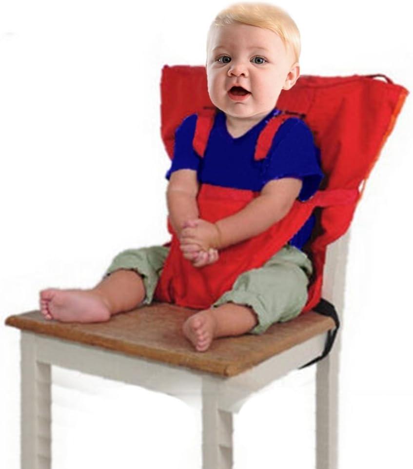 Baby Chair Booster Infantil Port/átil Alimentaci/ón Cintur/ón de Seguridad Silla Alta Carrier Caf/é