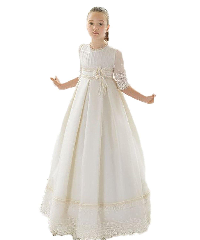 CoCogirls CoCogirls Mädchen Weiß Erstkommunion Kleider Prinzessin ...