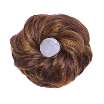 Image Unavailable. Image not available for. Color  Redmoon0204 DealsWomen s  Curly Synthetic Hair Extension Ponytail Holder ... 4c1833ec903