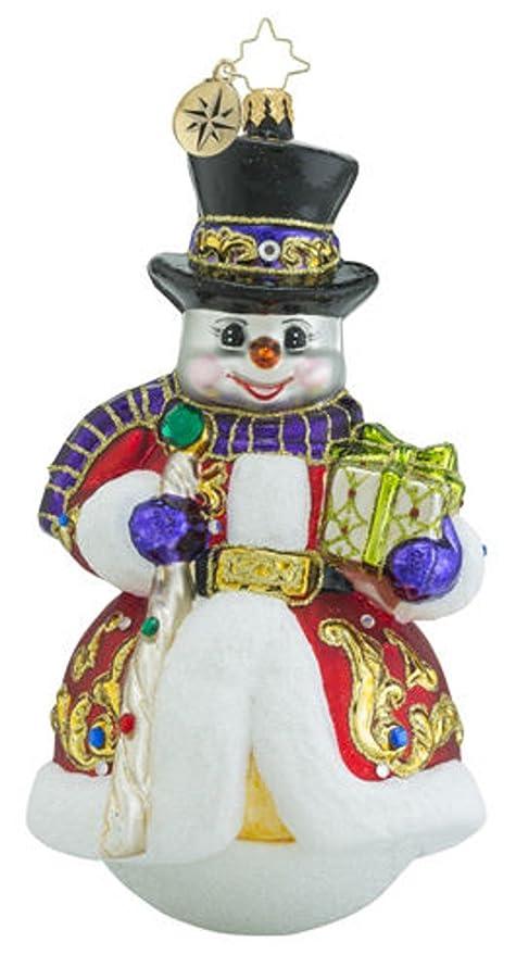 Christopher Radko Sir Scarlet Snow Limited Edition Snowman Christmas  Ornament - Amazon.com: Christopher Radko Sir Scarlet Snow Limited Edition