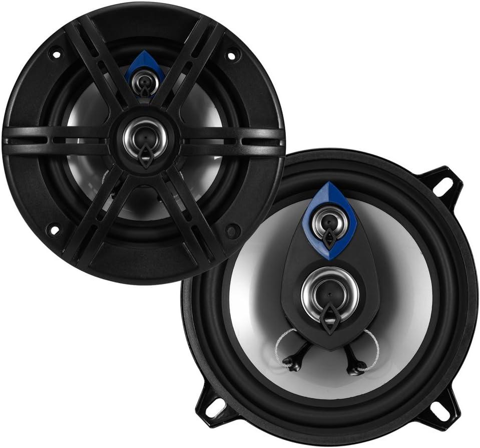 "Planet Audio PL53 200 Watt Max 5.25/"" Pulse Series 3-Way Coaxial Car Speaker New"