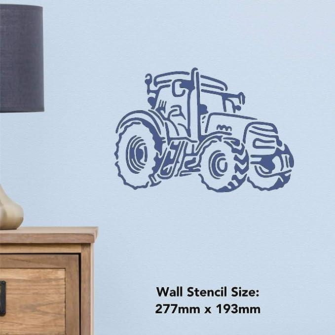 Azeeda A4 Tracteur Agricole Pochoir Mural WS00029867