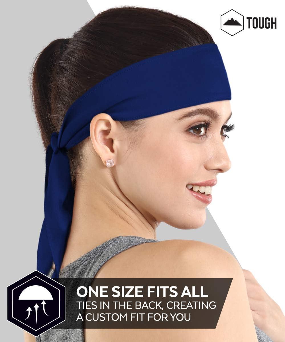 Running Head Tie /& Sports Headband Sweat Wicking Workout Athletic Sweatband for Tennis Kids /& Pirates Softball Ninja Bandana /& Karate Tie Back Hair Band//Wrap for Men Basketball Women