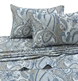 Tribeca Living PAPARK4PSSQU Paisley Park 300 TC Cotton Deep Pocket Sheet Set, Queen, Multi
