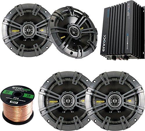 Car Speaker Set Combo Of 2 Kicker 40CS654 6.5