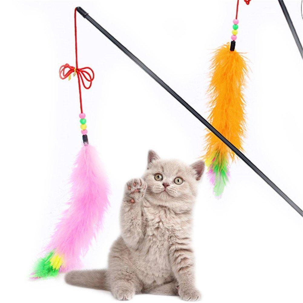 S- LOVE Kitten - Caña de Pescar interactiva para Gatos con Campana ...