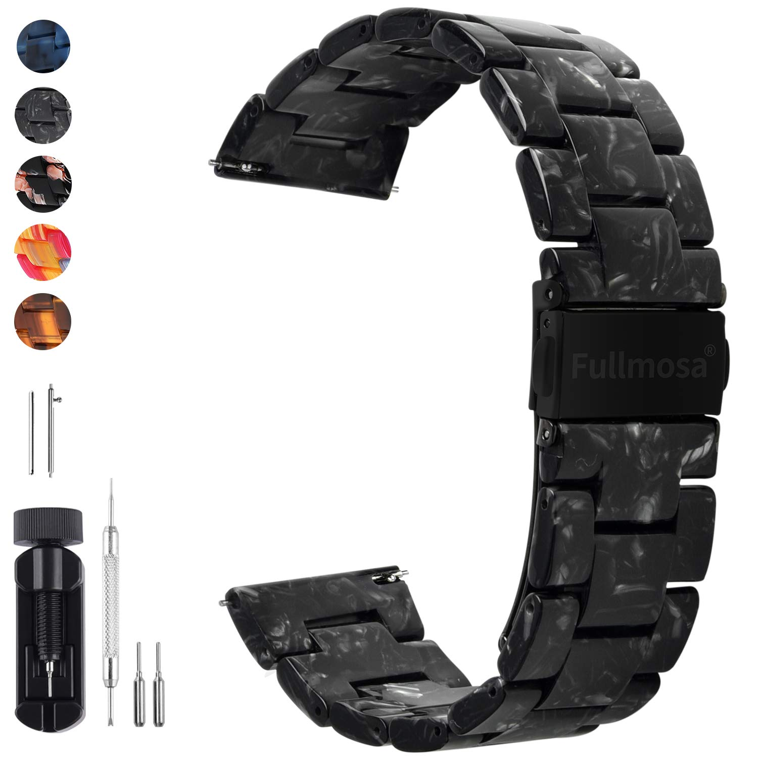 6 Colors for Quick Release Watch Band Fullmosa Bright Resin Replacement Watch Strap 18mm 20mm 22mm