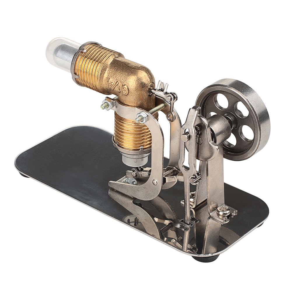 ELENKER Mini Hot Air Stirling Engine Motor Model Educational Toy Kits