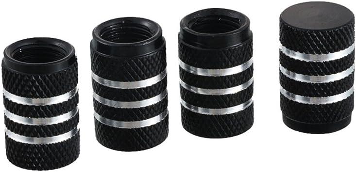 4 PCS multicolor Anodized Aluminum Round Tire Valve Stem Caps Fit For Car /& Bike