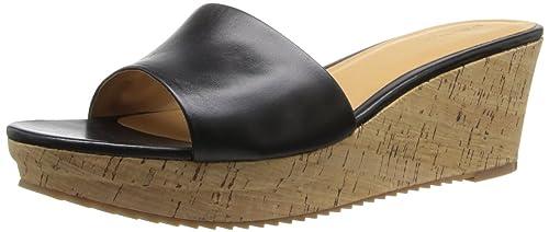 b28352b8018 Nine West Women s CONFETTY Leather Platform Sandal BLACK Black Leather 7.5  B(M) US