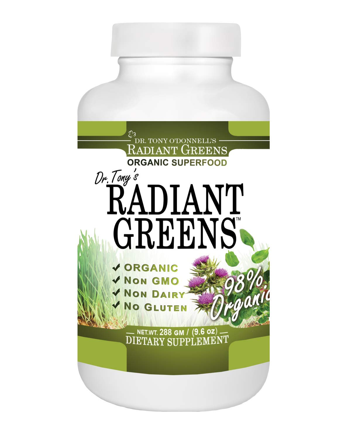 Radiant Greens Tropical by Tony O Donnell – 9.6 oz 30 Servings