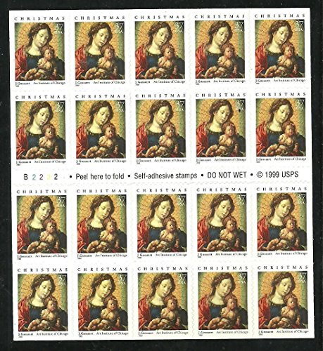 (Madonna and Child Christmas Booklet Pane of Twenty 37 Cent Stamps Scott 3675 )