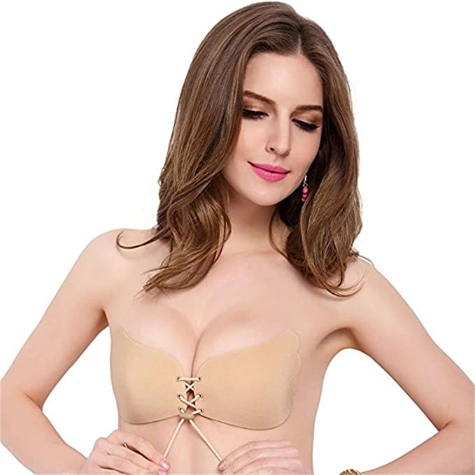 Sujetador invisible sin tirantes Goodsmiley, autoadhesivo con espalda descubierta y «push up»: Amazon.es: Ropa y accesorios